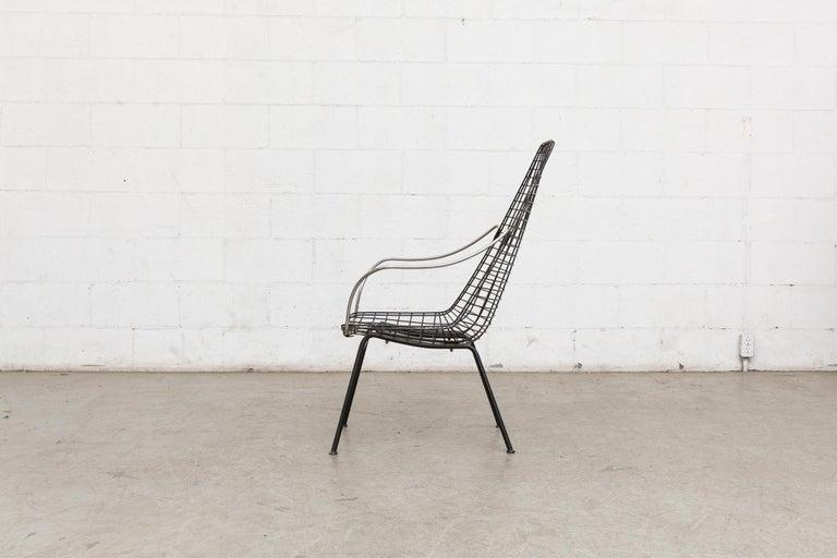 Mid-Century Modern Rare Cees Braakman and Adriaan Dekker Flamingo Chair For Sale
