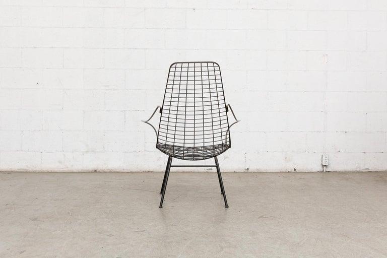 Enameled Rare Cees Braakman and Adriaan Dekker Flamingo Chair For Sale