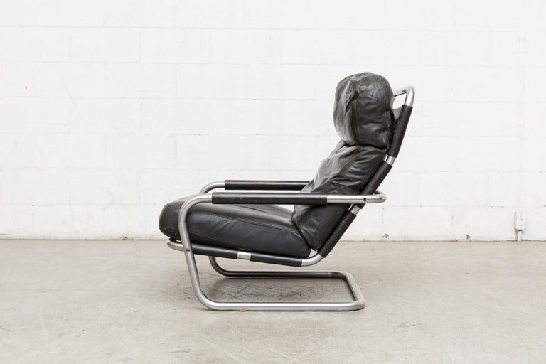 Mid-Century Modern Jan des Bouvrie Leather Lounge S
