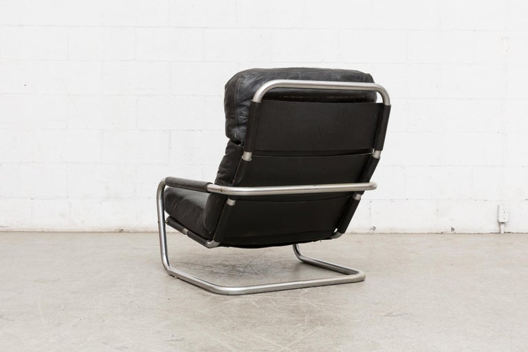Dutch Jan des Bouvrie Leather Lounge S