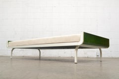 Mid-Century Green Teak and Metal Auping Daybed