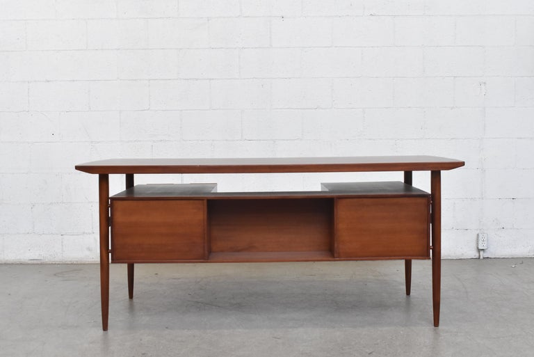 Danish William Watting Style Midcentury Teak Desk For Sale