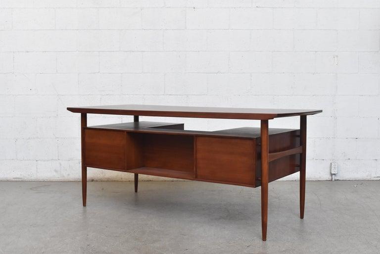 Mid-Century Modern William Watting Style Midcentury Teak Desk For Sale