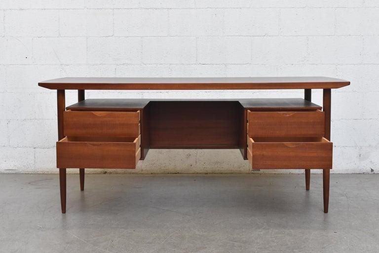 Mid-20th Century William Watting Style Midcentury Teak Desk For Sale