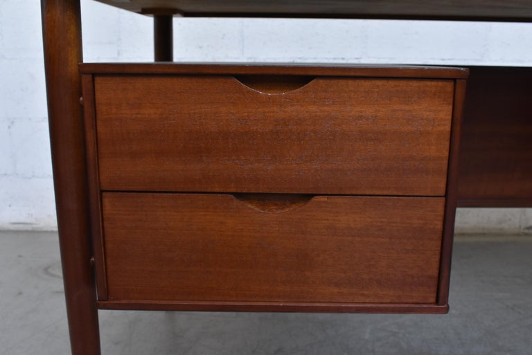William Watting Style Midcentury Teak Desk For Sale 3