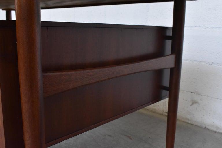 William Watting Style Midcentury Teak Desk For Sale 5
