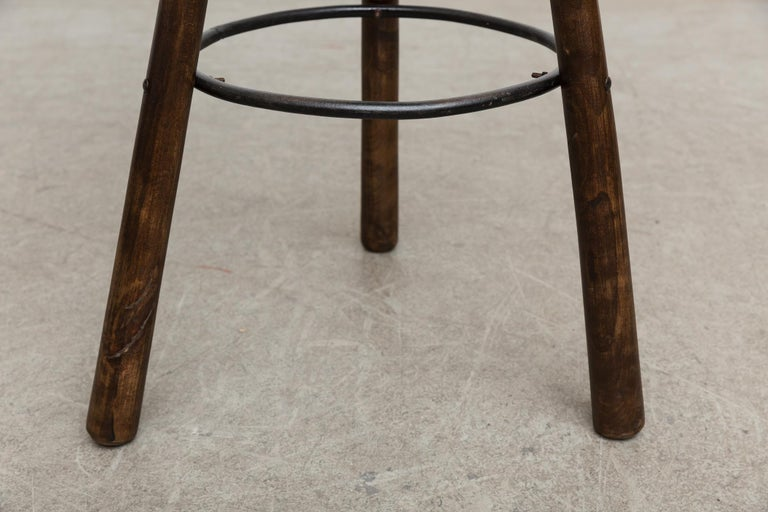 Metal Set of 3 Sergio Rodriguez Style Dark Spanish 'Marbella' Bar Stools For Sale