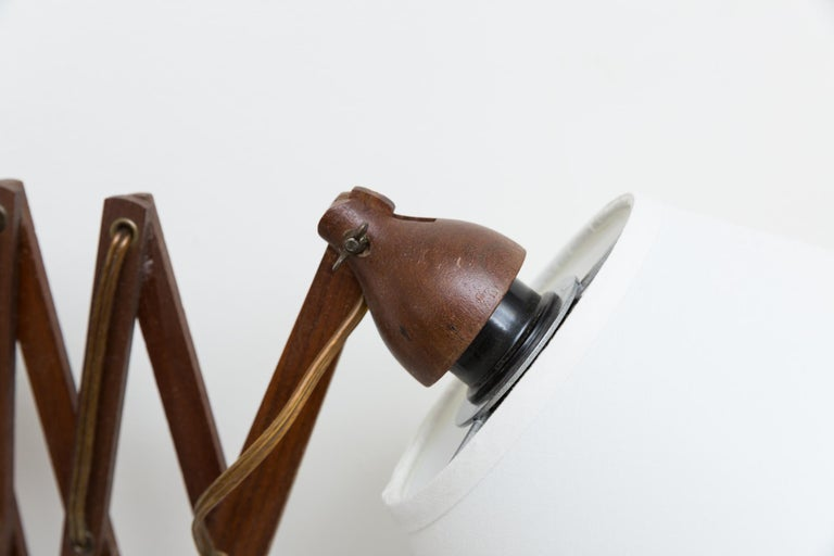 Midcentury Wood Accordion Wall Mount Lamp For Sale 3