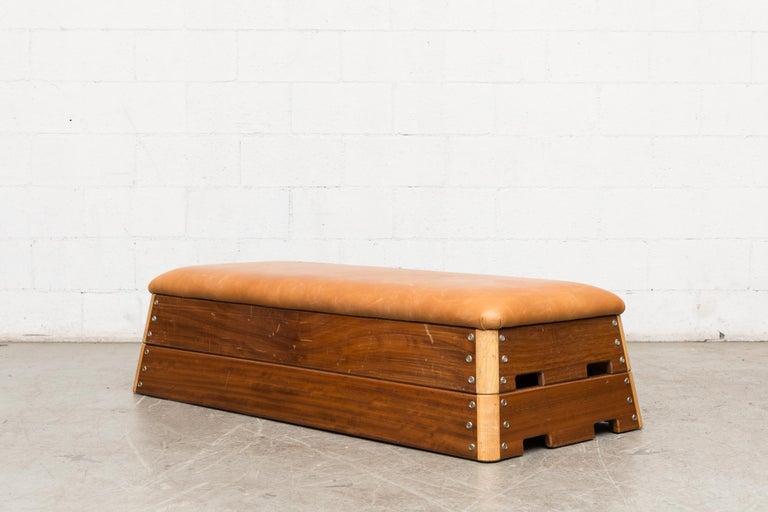Vintage Dutch Gymnastics Bench In Good Condition For Sale In Los Angeles, CA