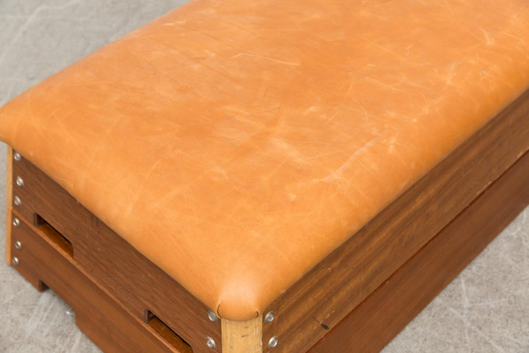 Vintage Dutch Gymnastics Bench For Sale 11