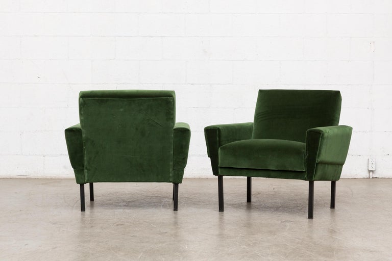 Enameled Pair of 'Mad Men' Style Lounge Chairs For Sale