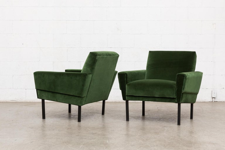 Dutch Pair of 'Mad Men' Style Lounge Chairs For Sale
