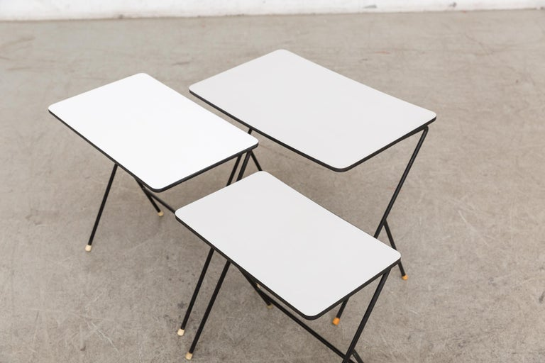 Mid-20th Century Mategot Inspired Nesting Tables For Sale