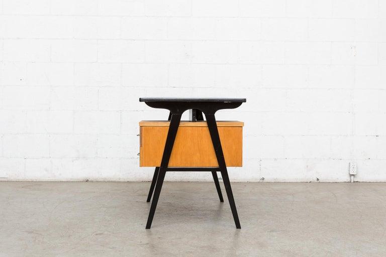 Mid-Century Modern Coen de Vries Style Multicolored Writing Desk For Sale