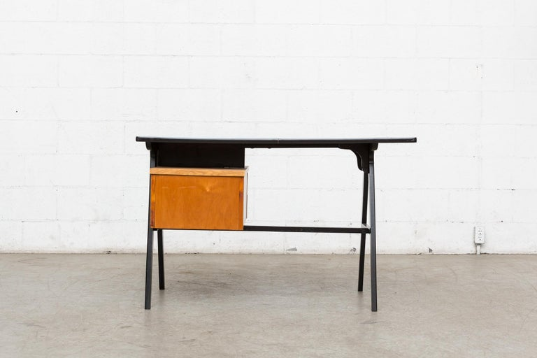 Lacquered Coen de Vries Style Multicolored Writing Desk For Sale