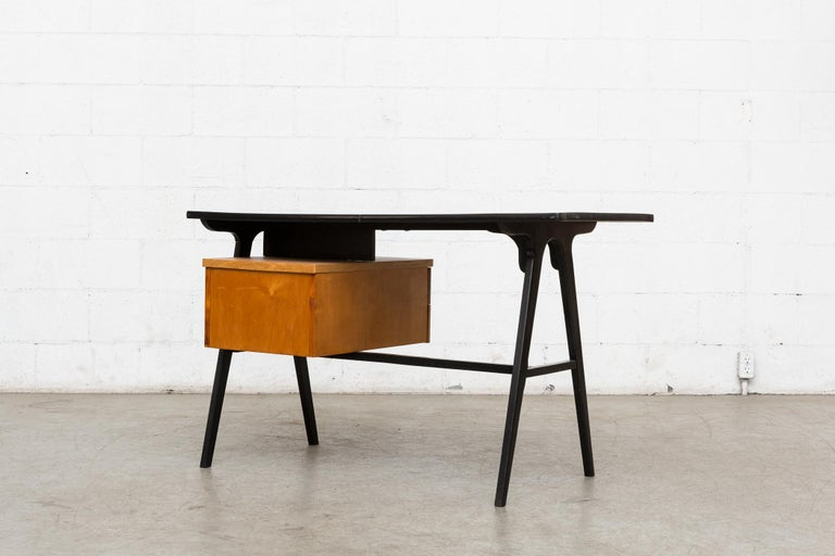 Coen de Vries Style Multicolored Writing Desk In Good Condition For Sale In Los Angeles, CA