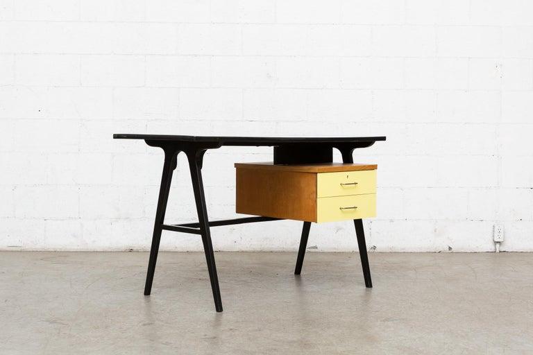 Wood Coen de Vries Style Multicolored Writing Desk For Sale