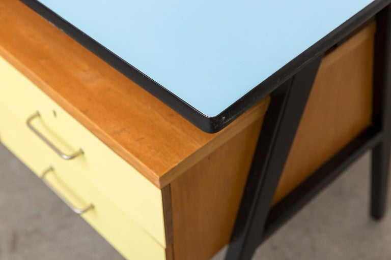 Coen de Vries Style Multicolored Writing Desk For Sale 2