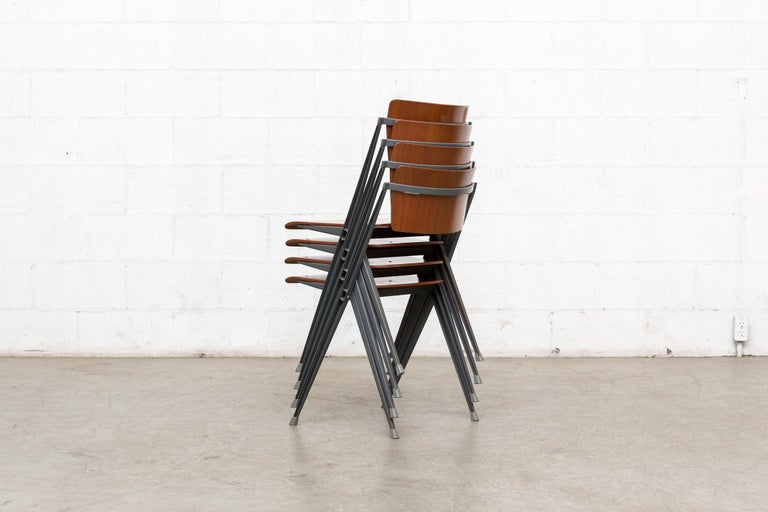 Dutch Rare Set of 4 Rietveld ''Pyramid'' Chairs for Ahrend the Cirkel For Sale