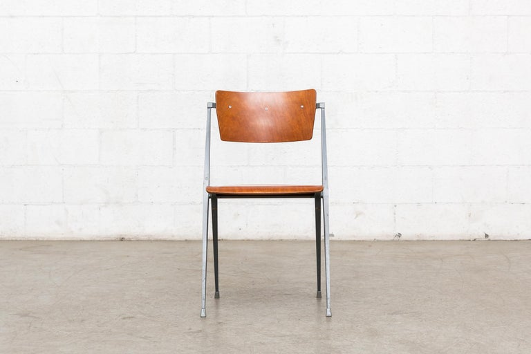 Rare Set of 4 Rietveld ''Pyramid'' Chairs for Ahrend the Cirkel In Good Condition For Sale In Los Angeles, CA