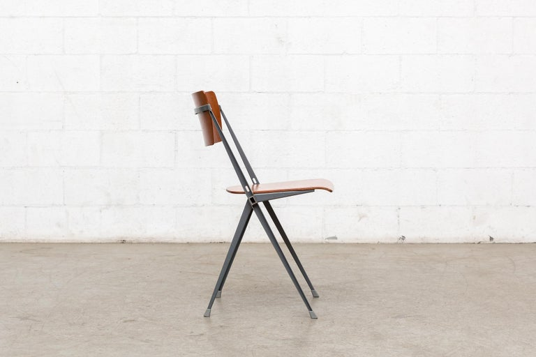 Metal Rare Set of 4 Rietveld ''Pyramid'' Chairs for Ahrend the Cirkel For Sale