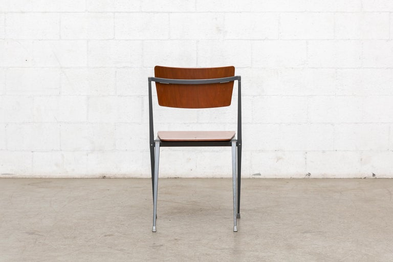 Rare Set of 4 Rietveld ''Pyramid'' Chairs for Ahrend the Cirkel For Sale 2