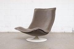 Rare Geoffrey Harcourt Pedestal Lounge Chair