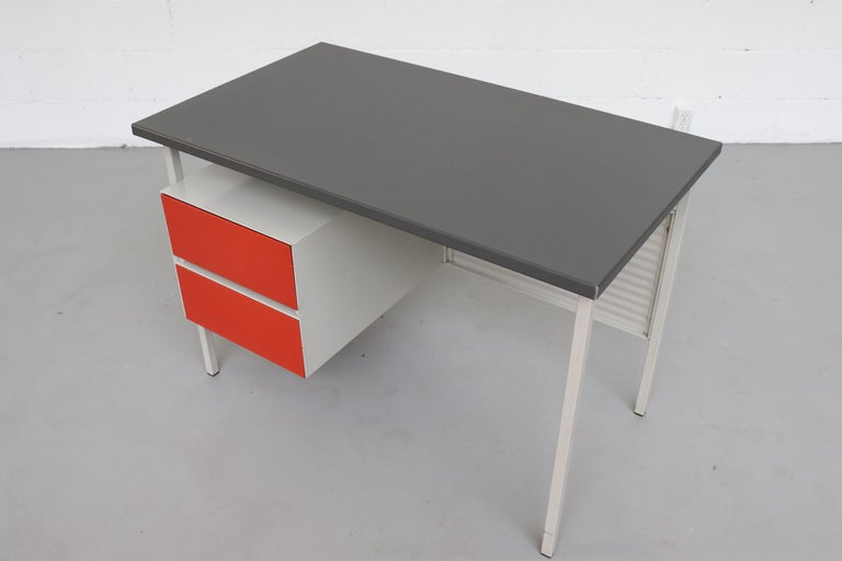 Gispen 3803 Industrial Desk with Privacy Screen For Sale 1