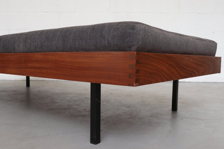 Mid-20th Century Teak Daybed with Grey Mattress For Sale