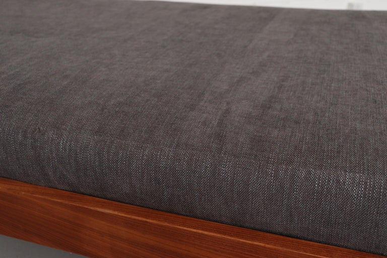 Teak Daybed with Grey Mattress For Sale 1