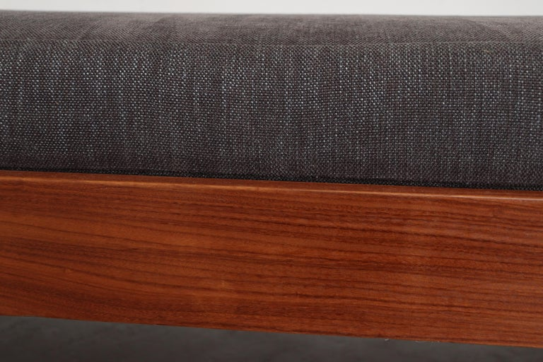 Teak Daybed with Grey Mattress For Sale 2