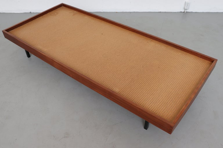 Teak Daybed with Grey Mattress For Sale 5