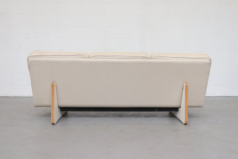 Lacquered Bone Kho Liang Ie Sofa for Artifort For Sale
