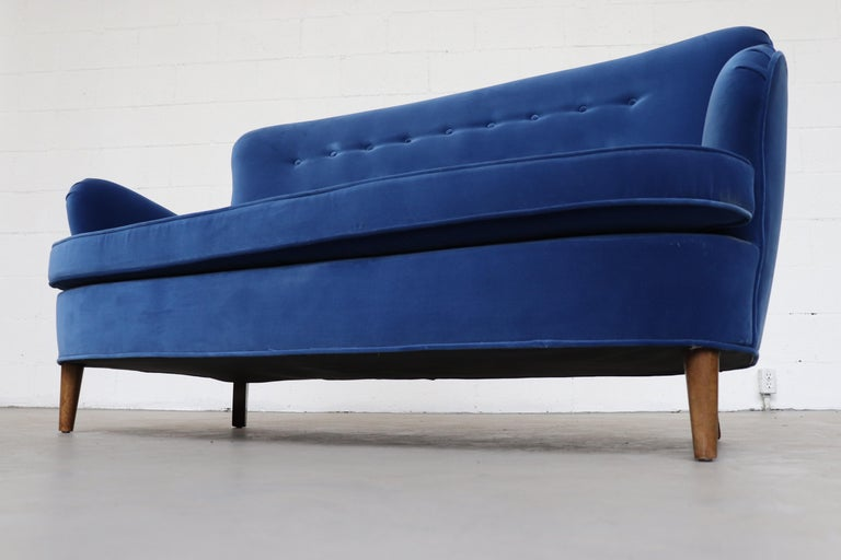Theo Ruth Cobalt Blue Sofa by Artifort For Sale 1