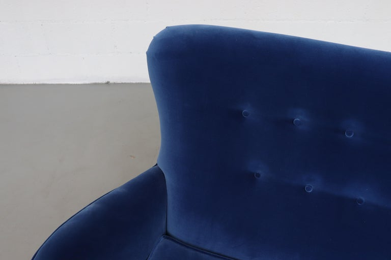 Theo Ruth Cobalt Blue Sofa by Artifort For Sale 2