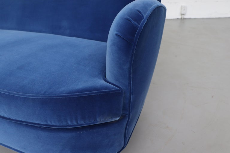Theo Ruth Cobalt Blue Sofa by Artifort For Sale 5