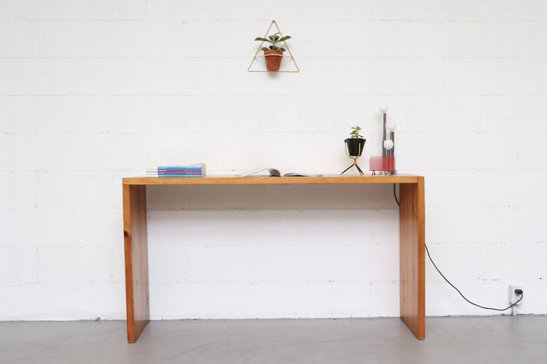 Mid-Century Modern Ate Van Apeldoorn Pine Console Table For Sale