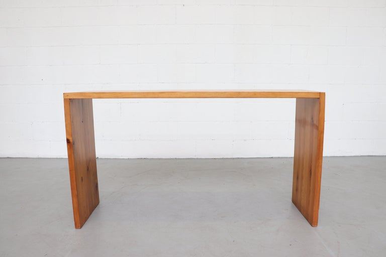 Ate Van Apeldoorn Pine Console Table In Good Condition For Sale In Los Angeles, CA