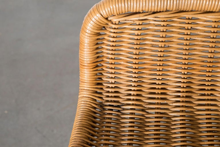Charlotte Perriand Style Wicker Bar Stools For Sale 1