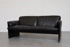 Leolux 'Bora Bora' Black Leather Love Seat
