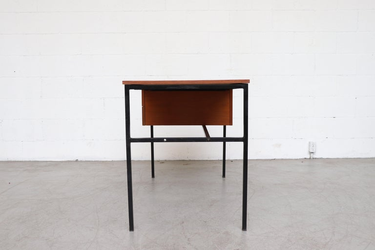 Mid-Century Modern Pierre Guariche Teak Writing Desk for Meurop For Sale