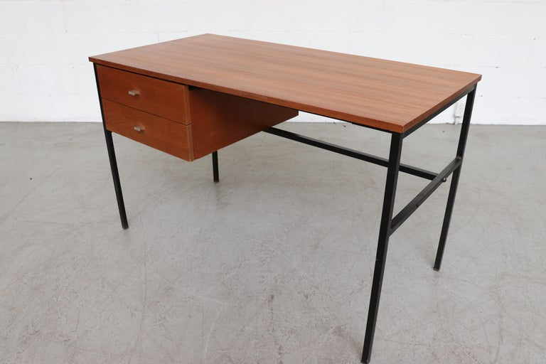 Pierre Guariche Teak Writing Desk for Meurop In Good Condition For Sale In Los Angeles, CA