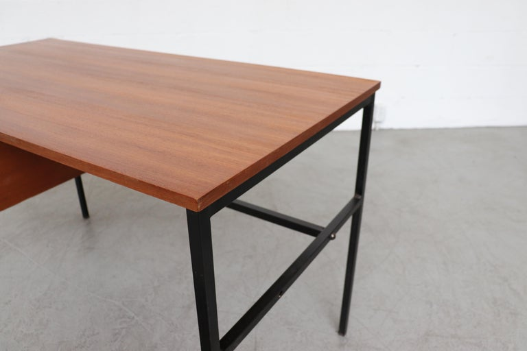 Pierre Guariche Teak Writing Desk for Meurop For Sale 1