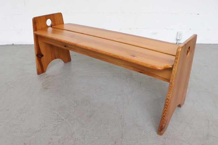 Gilbert Marklund Pine Dining Table and Bench Set For Sale 10