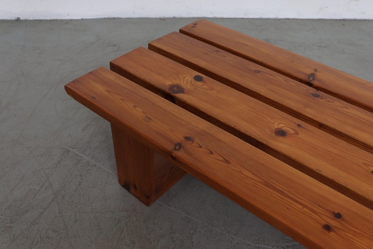 Ate Van Apeldoorn Pine Slat Bench In Good Condition For Sale In Los Angeles, CA