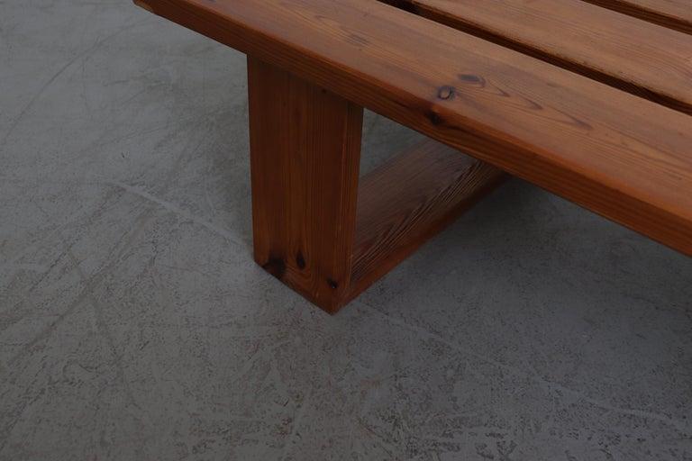 Ate Van Apeldoorn Pine Slat Bench For Sale 1