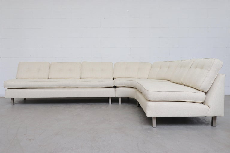 Mid-Century Modern Artifort 3-Piece Sectional Sofa by Geoffrey Harcourt For Sale