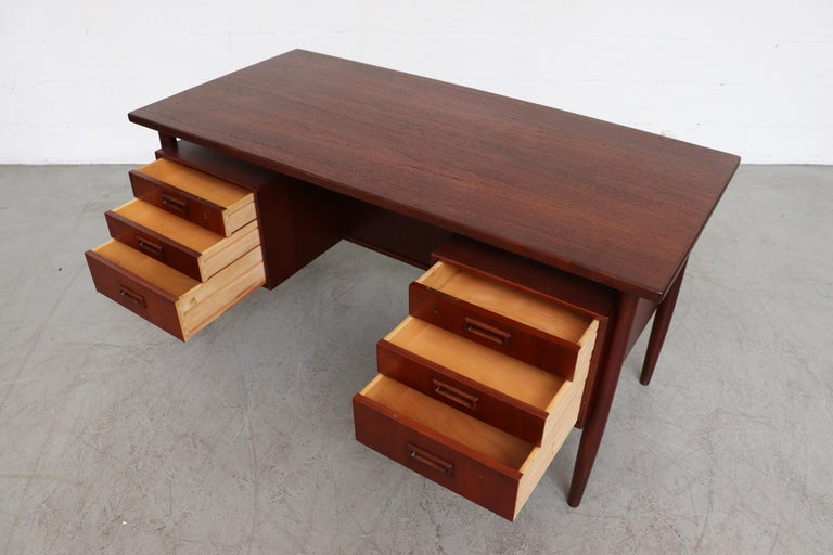 William Watting Style Floating Top Desk For Sale 1