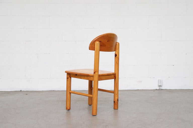 Late 20th Century Set of 6 Rainer Daumiller Style Pine Dining Chairs For Sale