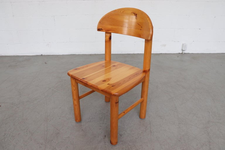 Set of 6 Rainer Daumiller Style Pine Dining Chairs For Sale 2